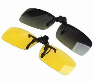 Clip On Night Driving Glasses Uk
