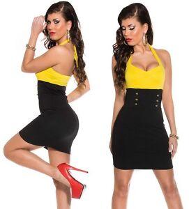 newest 8e5b3 5fe80 Dettagli su Abito miniabito vestito donna aderente corto bicolore nuovo sexy