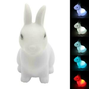 Sleeping LED Night Light Table Lamp Cute Rabbit Kids Room Decor Birthday Gift