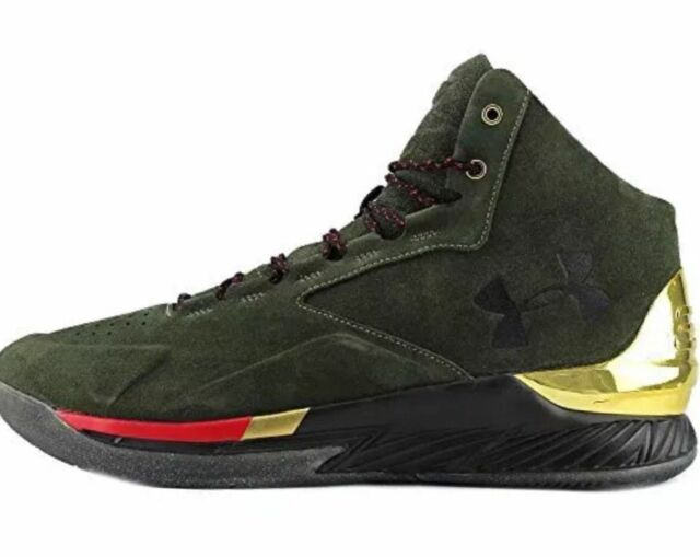 8e33b0ff8b9 Under Armour UA Curry 1 Lux Mid SDE Olive Dark Green 1296617 330 Men s Size  9.0
