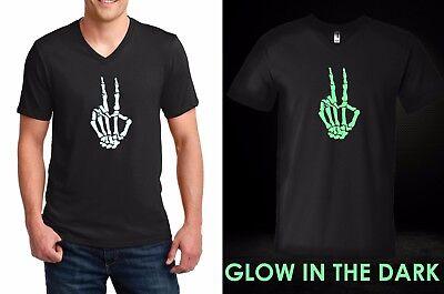 He/'s My Boo Skeleton Hand Glow In The Dark Halloween Mens T-shirt