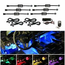 (6) Pods 7-Color RGB LED Underbody & Interior Car Accent Lighting Kit