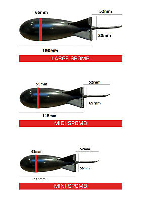 The Spomb Futterrakete Partikel Float Anfüttern Bait Futter Mini Farben//1-5STÜCK