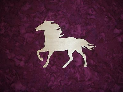 Horse Wood Cut Out Unfinished Wooden Animal Shapes  Artistic Craft Supply