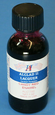 Alclad II Lacquer Candy Red Enamel 1oz ALC702 702 Airbrush Ready Paint