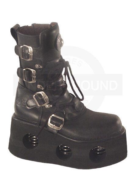 New Rock Boots Schwarz 373 Saturno Plateau Schnallen #5003