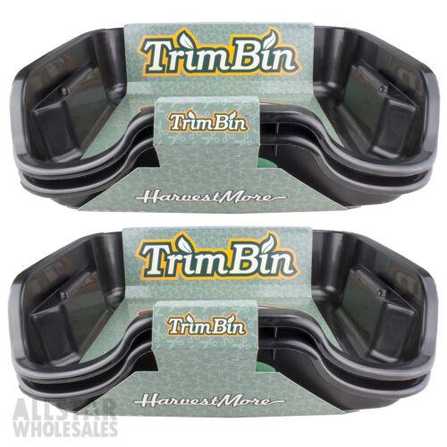2 Pack Harvest More Trim Bin Black Harvesting Trimming Trays /& Brush Lot