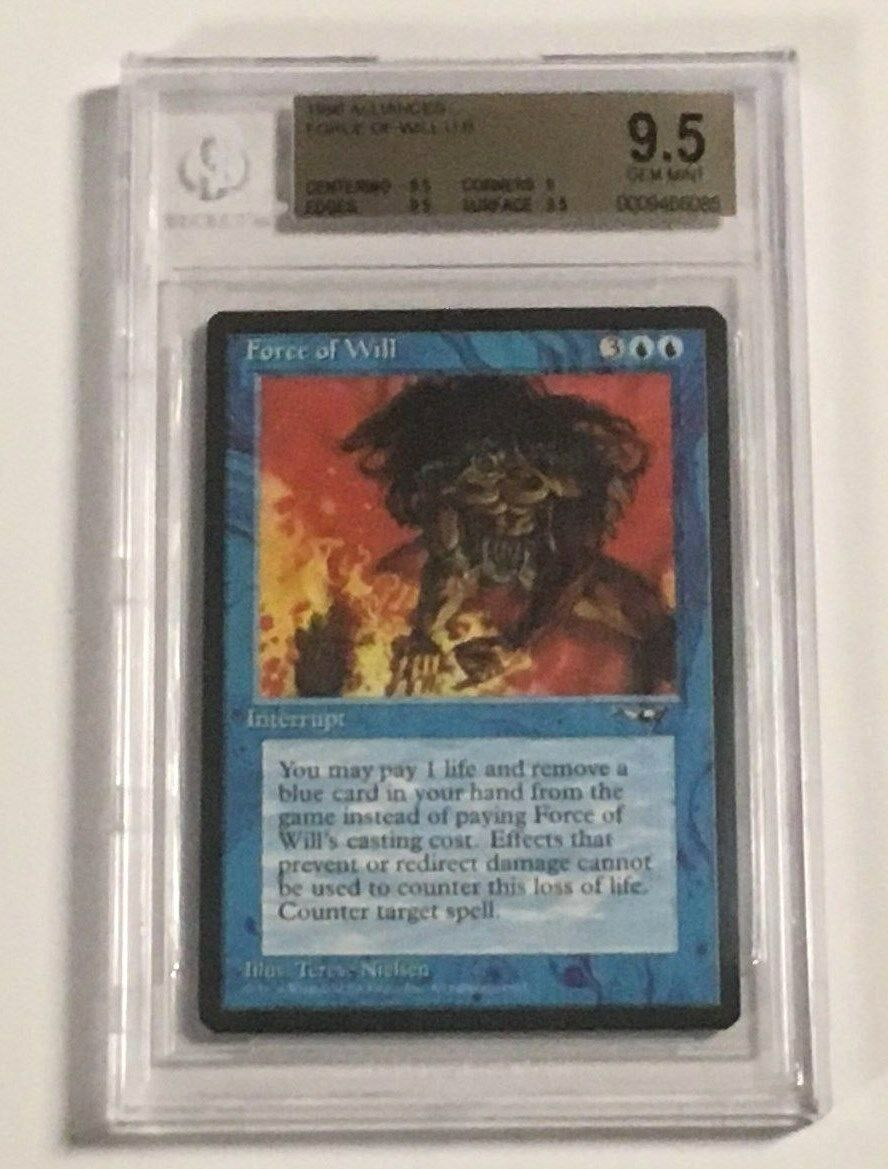 1996 ALLIANCES  FORCE OF WILL U B B B  (GRADED BGS 9.5 GEM MINT) EXQUISITE CONDITION 347c8f