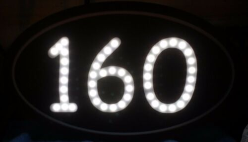 ARCHED CUT OUT BACK LIT. LED ADDRESS SIGN PLAQUE HOUSE NUMBER ARCHED OR OVAL