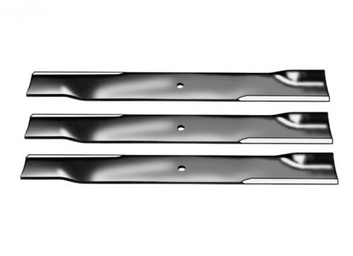 """Set of 3 High Lift Blades for 52/"""" Cut Exmark 18/""""X 5//8/"""" Center Hole code 103-1578"""