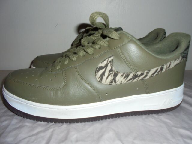 Nike Air Force 1 Low AOP Tiger Camo Olive AQ4131 200 shoes Size 12 Mens