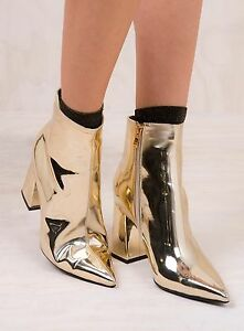 New-Women-039-s-Therapy-Soft-Gold-Alloy-Boots