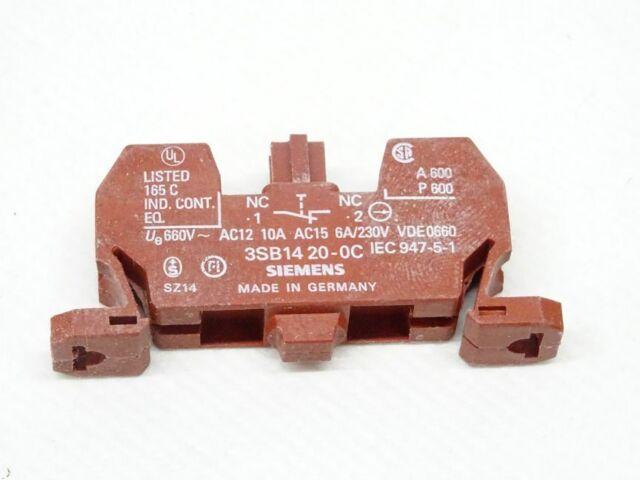Siemens 3SB1420-0C 3SB14 20-0C Schaltelement 1x Stück