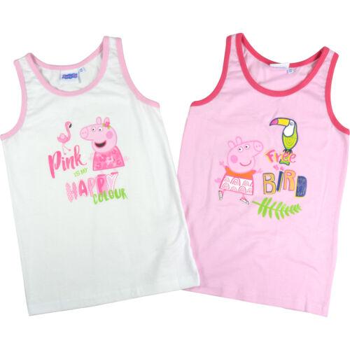 """taille 110//116 NOUVEAU// Peppa Wutz Enfants Fille Combinaison /""""Bird/"""" 2er Pack rose//blanc"""