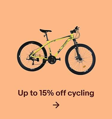 Up to 15% off cycling
