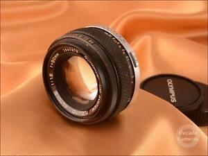 Olympus Zuiko Auto-S 50mm f1.8 Fast Standard Prime Lens - 1229