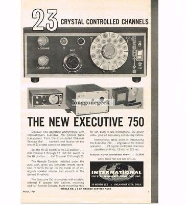 Advertising 1964 International Crystal Executive 750 Transceiver Cb Ham Radio Vtg Print Ad Collectibles