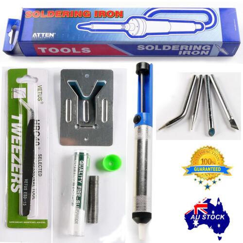 6in1 ATTEN Solder SOLDERING IRON 60W Chisel Tip OZ 240V Plug with LED indicator