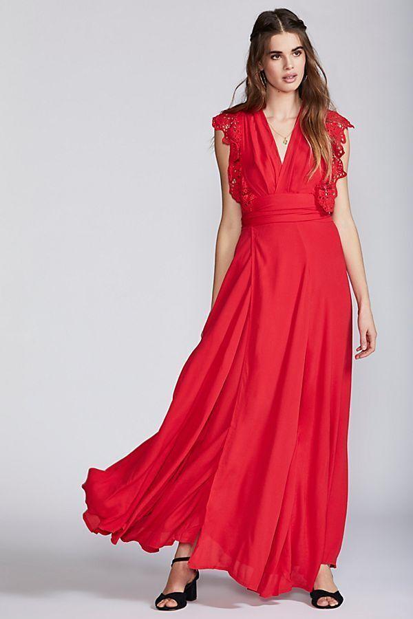 NEW Free People Poppy Wrap Maxi Dress by Jen's Pirate Stiefely Sz Small - Bohemian