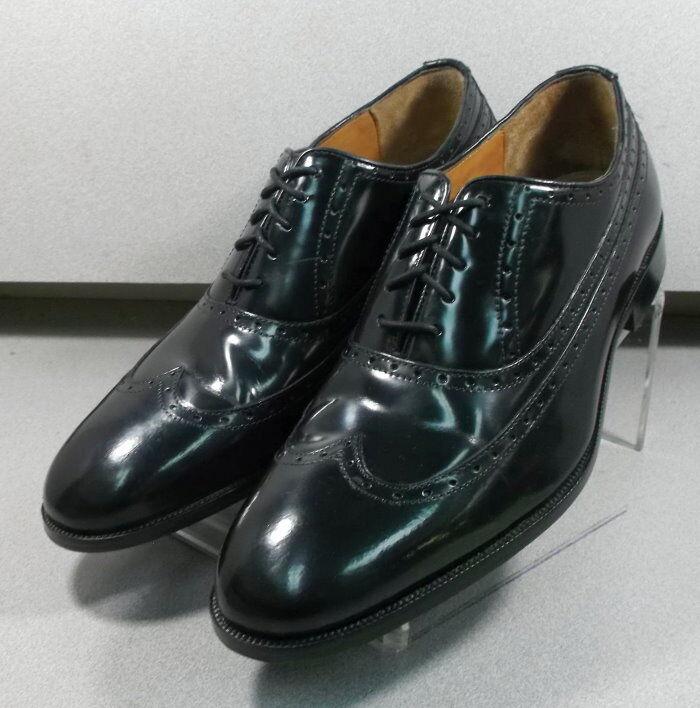 152641 PF50 Men's Shoes Size 12 M Black Leather Lace Up Johnston & Murphy