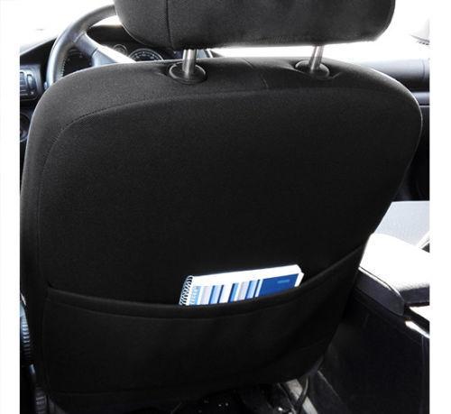 Black Eco-Leather Tailored Full Set Seat Covers SAAB 9-3 2002-2014 sedan