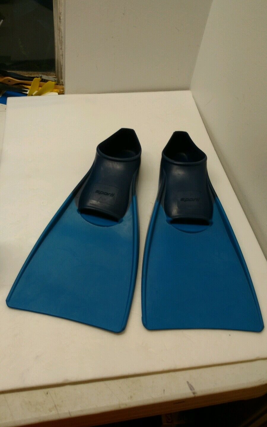 Sporti Floating Swim Fins blueee Men's 9-10 Women's 10-11 Vintage