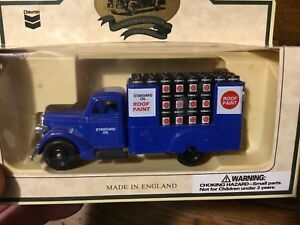 Lledo-Chevron-Standard-Oil-Roof-Paint-Flat-Bed-Truck-Die-cast-Toy-England-MIB