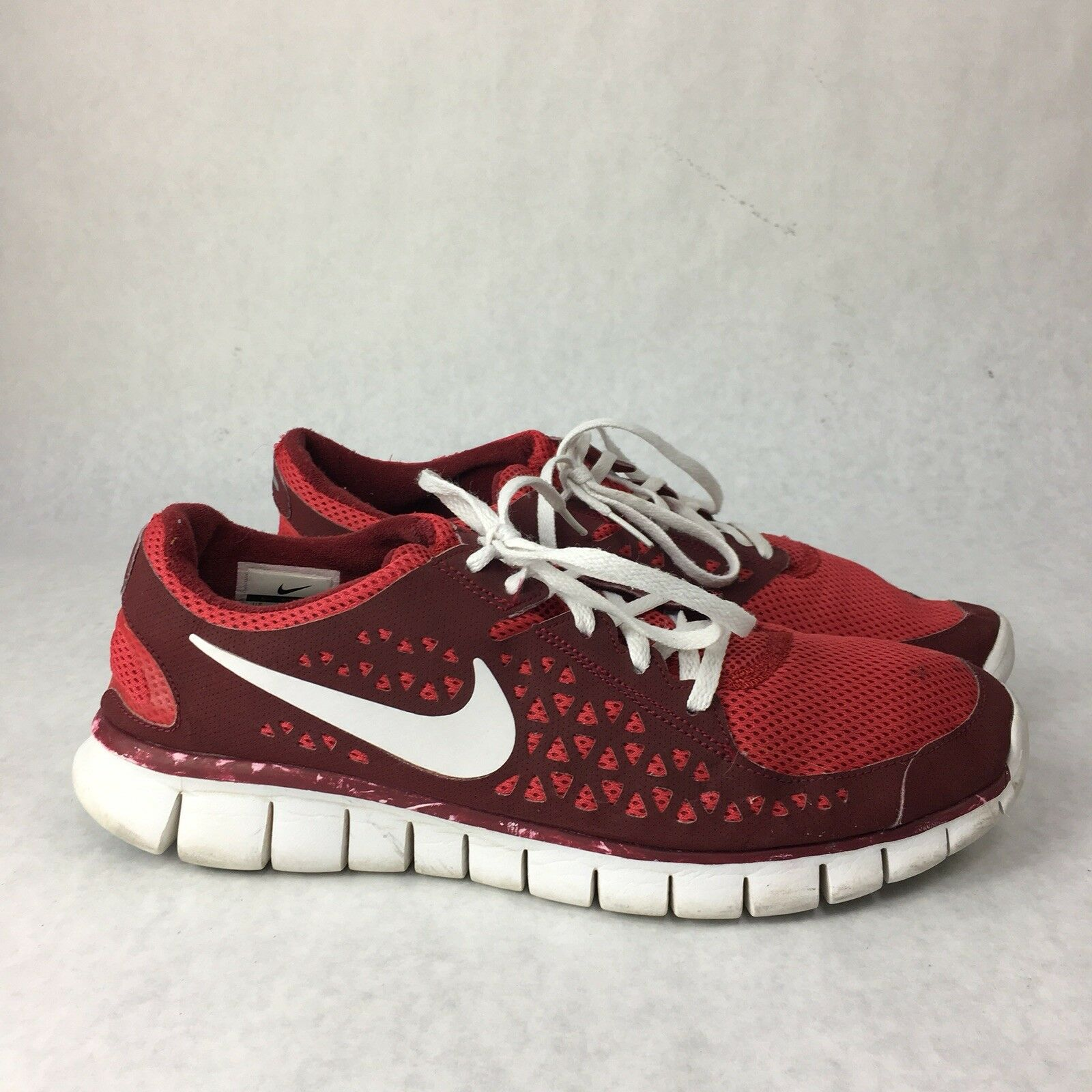 Extremely rare NIKE FREE RUN+ 395912-600 size 11.5 RUNNING SHOES
