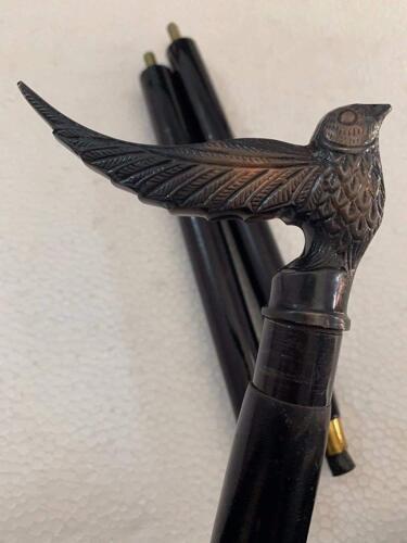 Antique Style Designer Brass Head Handle Walking Stick Wooden Cane