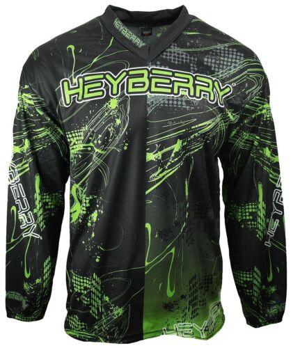 Heyberry Motocross MX Shirt Jersey Trikot schwarz grün Größe XL