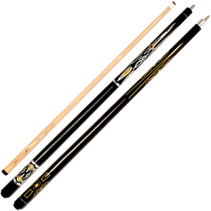 2-Piece-Billiard-Pool-Cue-ECCO-Leatherette-Grip-50-50-Split-13mm-Multilayer-Tip