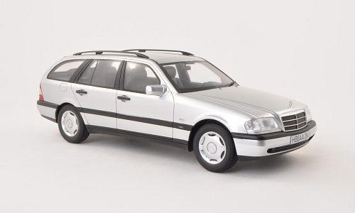 1996 Mercedes Benz C220 T Modèle S202 Argent par Bos Modèles le de 1000 1 18