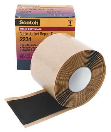 """Black SCOTCH 2234-2X6FT Mastic Tape 60 mil 2/"""" x 6 ft."""