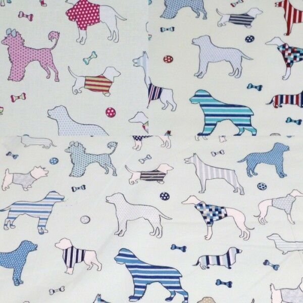 Dogs Bones & Balls 100% Cotton Fabric