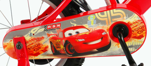 Kinderfahrrad Disney Cars Lightning McQueen 14 Zoll Rücktrittbremse Trinkflasche