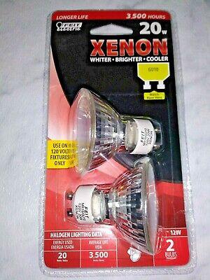 Feit Electric BPXN20MR16//GU10//2//RP Xenon 20-Watt Halogen MR16 Bulbs 2 count package