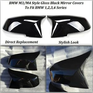 Bmw M3 M4 Style Gloss Black Replacement Mirror Covers F20 F21 F30