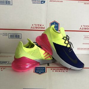 e512130ec20e04 Nike Air Max 270 Flyknit Size 8 Multi-Color Pink Running Gym Shoes ...