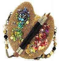 Mary Frances Handbag Painters Palette Beaded Jeweled Purse Shoulder Bag *RARE*