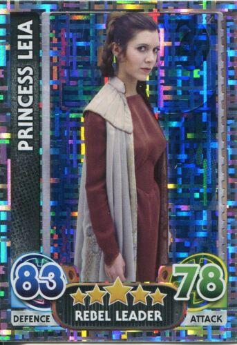 Star Wars Force Attax Force Awakens Set 1 #194 Princess Leia