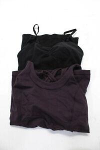 Lululemon-Athleta-Womens-Athletic-Tank-Top-Black-Purple-Size-Medium-LOT-2