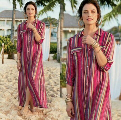 Soft Surroundings Linnea Striped Dress Size Petite