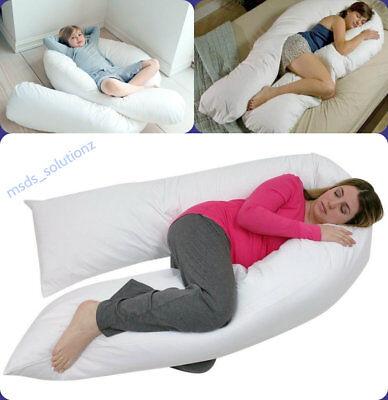 12 Ft Big C-u Forma Full Body & Back Supporto Maternità Gravidanza Cuscino Comfort-