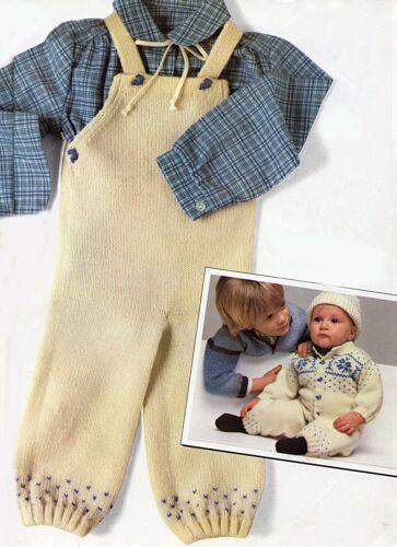 6M-18M Tejer patrón-Baby Cardigan//Peto//Sombrero 4 Tamaños PO392