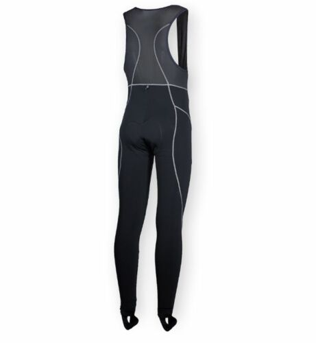 Thermal Bib Tights,Long Pants Black Dry Wicking Fleece Liner Padded