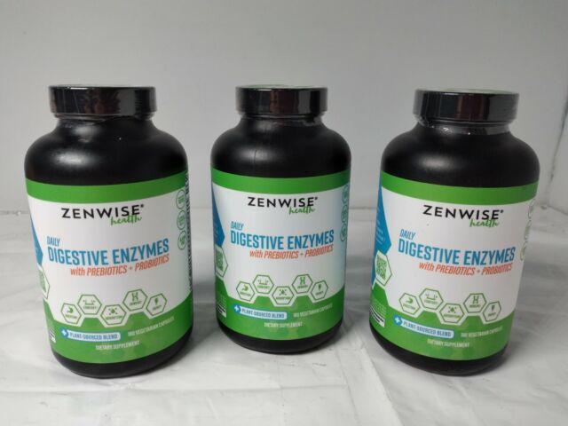 (LOT OF 3) Zenwise Health Daily Digestive Enzymes W/ Prebiotics Probiotics 180ct