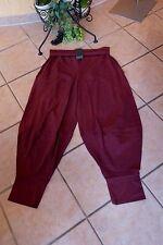 BORIS INDUSTRIES  Ballon Hose 50 52 (5) NEU LAGENLOOK bordeaux Stretch Baumwolle