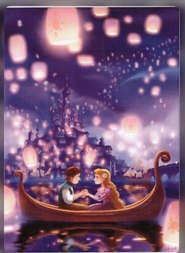 Disney WonderGround Tangled Rapunzel Lantern Love Song Postcard By Bill Robinson