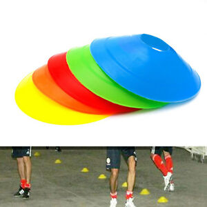 10pcs 19cm Cones Marker Discs Soccer Football Training Sports Entertainment New