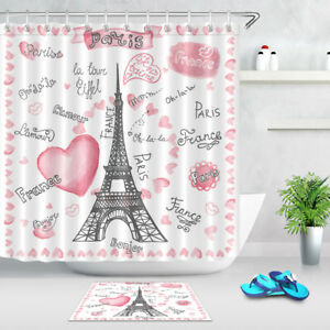 Image Is Loading France Paris Love 180CM Fabric Shower Curtain Set